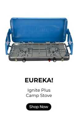 Eureka! Ignite Plus camp stove with a shop now button.